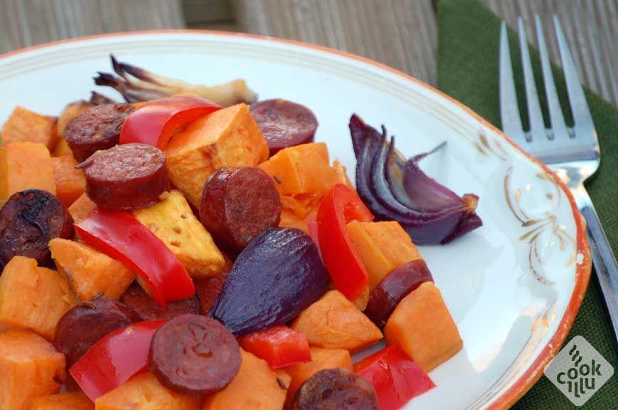 Ciepla salatka z slodkich ziemniakow1
